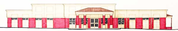 A plan view of Memorial Hospital's new Amelia Avenue medical office building.