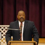 """Local church leader and retired businessman Brock Washington talked about some of the """"lesser-known"""" contributors to black history and the civil rights movement during a Black History Month event held last Wednesday at Bainbridge Middle School."""
