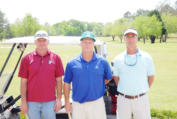 The winning team was, left to right, Tommy Nix, Mike Jones and El Willis. Not pictured is Jim Higdon.