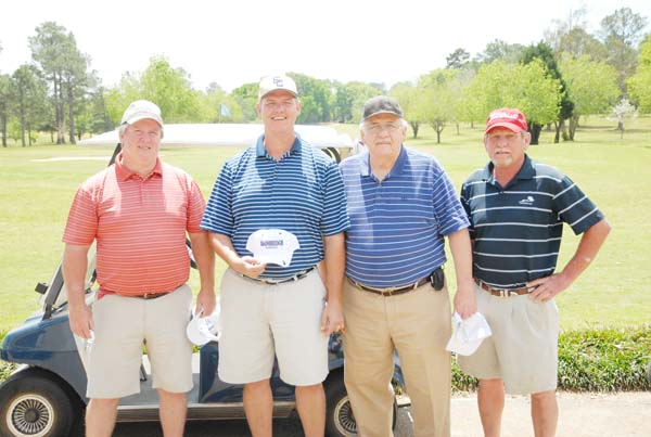 The second-place team was, left to right, Wynn Bush, Jay Palmer, Tommy Palmer and Dewey Cannon.