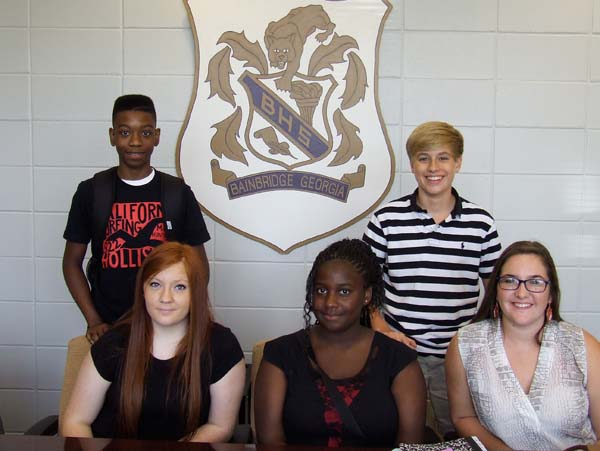 These five are a representative sampling of the incoming freshman class, indicating the Class of 2017 will be an exceptional one. Seated, left to right, are Summer Boyd, Shontesska Gordon and Emilee Poppell. Standing are Milton Gayle and Austin Prouse.