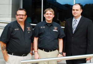 Graduates of the Bainbridge State College Advanced Emergency Medical Technology program stand with their instructor, Charles Avery. From the left, are David R. Cutchin and Colby Ponder, both from Bainbridge, and Avery. Mark Parker is not pictured.